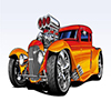 Hot Rod Cartoon Jigsaw