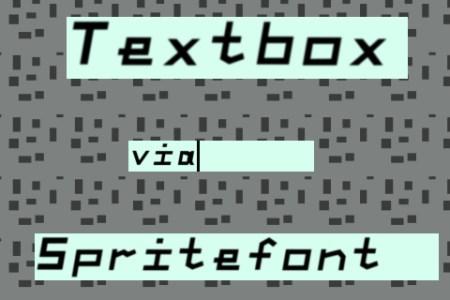 Textbox Via Spritefont
